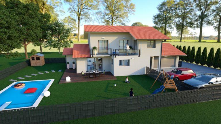 Maisons individuelles neuves à Prévessin-Moëns le jour