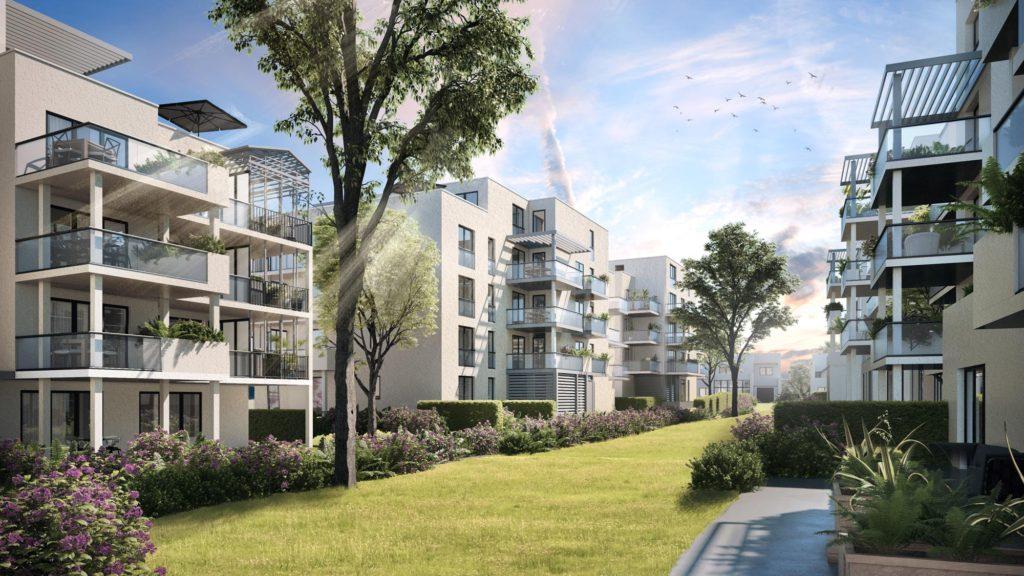 """Appartements à vendre Ferney-Voltaire """"Garden-Park""""-intérieur-Verger"""