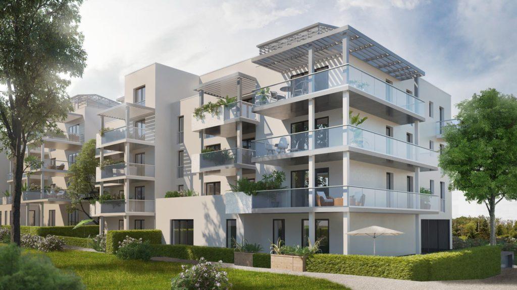 """Appartements à vendre Ferney-Voltaire """"Garden-Park""""-immeuble-Verger"""