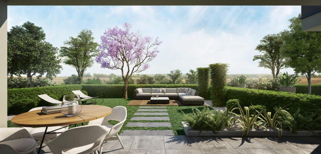 """Appartements à vendre Ferney-Voltaire """"Garden-Park""""-jardin-garden-park-Verger"""