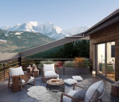 domancy cote mont blanc vue terrasse