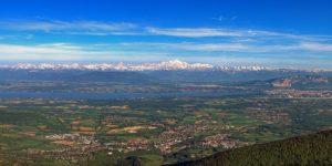 France voisine Pays de Gex vue Mont Blanc