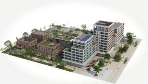 A vendre appartements neufs Ambilly-ARCHIPEL-74--ecoquartier-Vue-aerienne